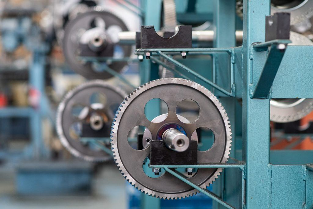fotografia de componentes mecánicos
